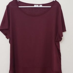 NWOT Cato Rich Burgundy Top and Tank Set